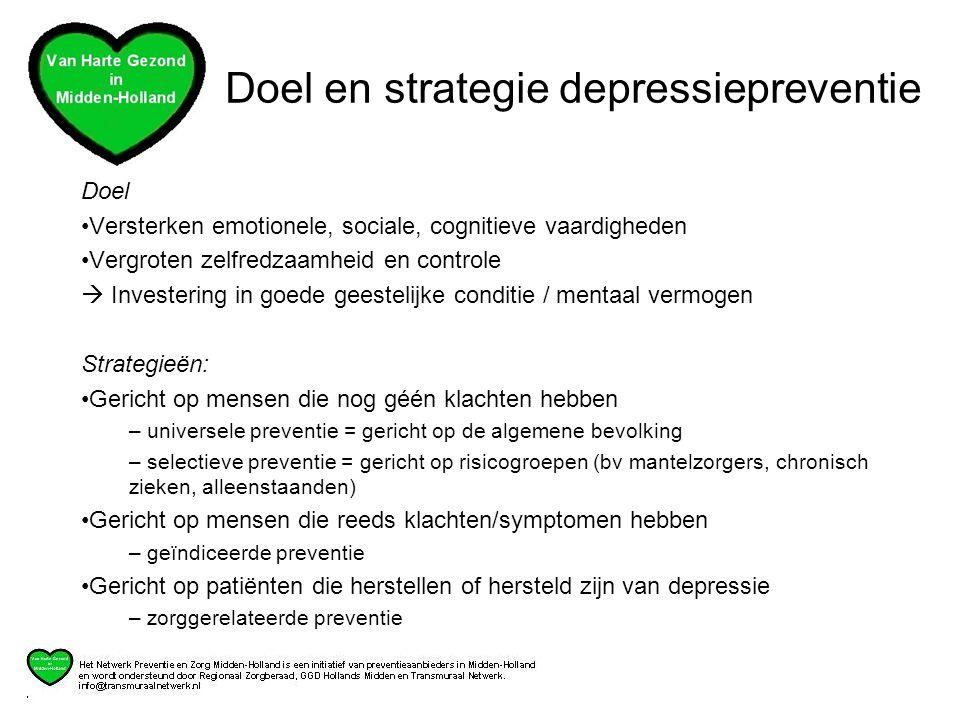 Doel en strategie depressiepreventie