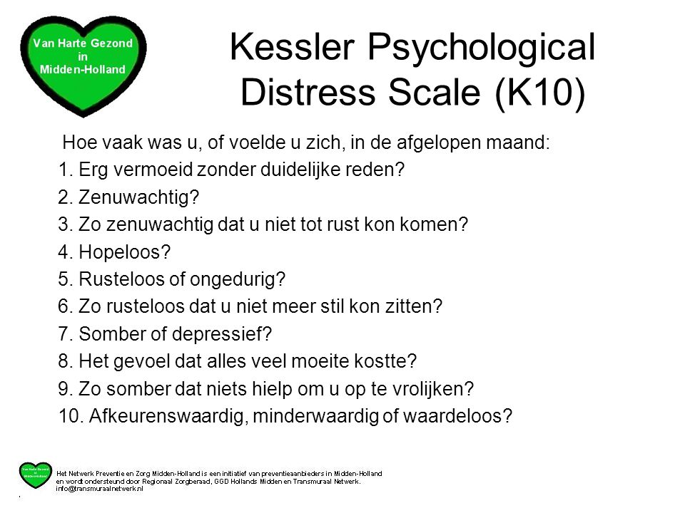 Kessler Psychological Distress Scale (K10)