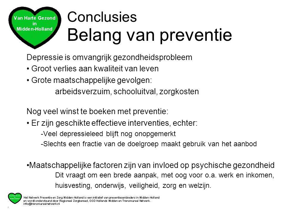 Conclusies Belang van preventie