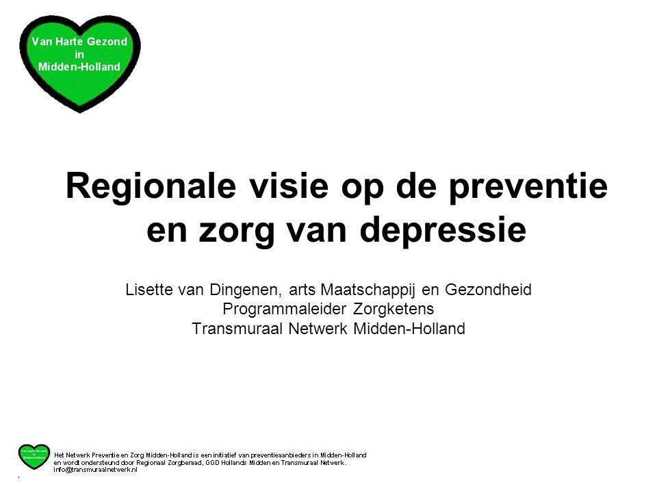 Regionale visie op de preventie en zorg van depressie