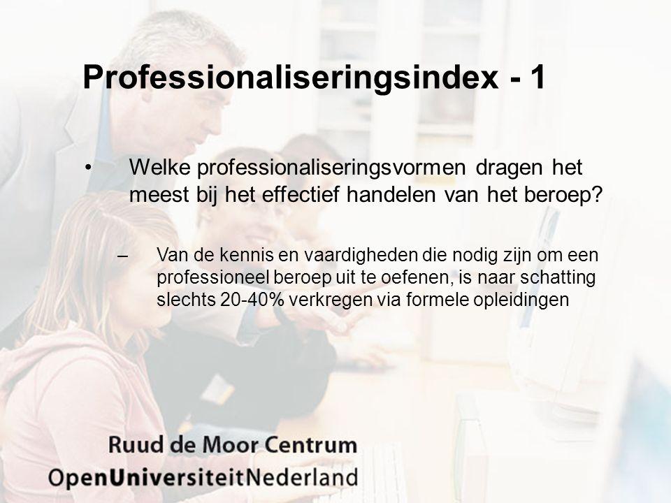 Professionaliseringsindex - 1