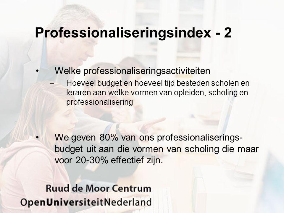 Professionaliseringsindex - 2