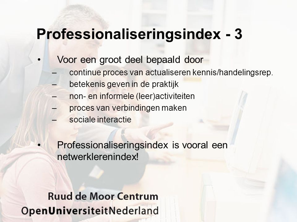 Professionaliseringsindex - 3