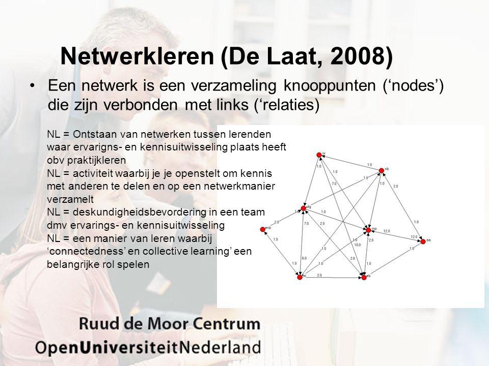Netwerkleren (De Laat, 2008)