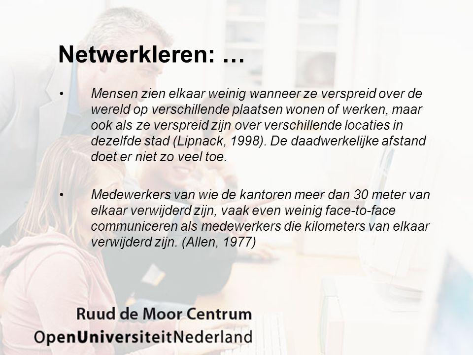 Netwerkleren: …