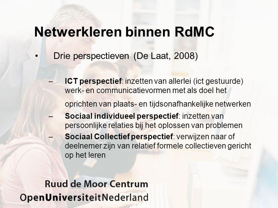 Netwerkleren binnen RdMC