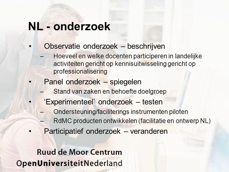 NL - onderzoek Observatie onderzoek – beschrijven