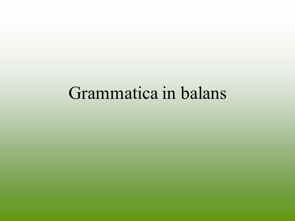 Grammatica in balans