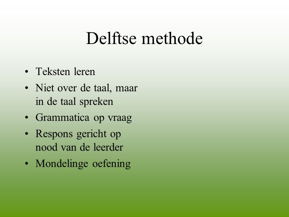 Delftse methode Teksten leren