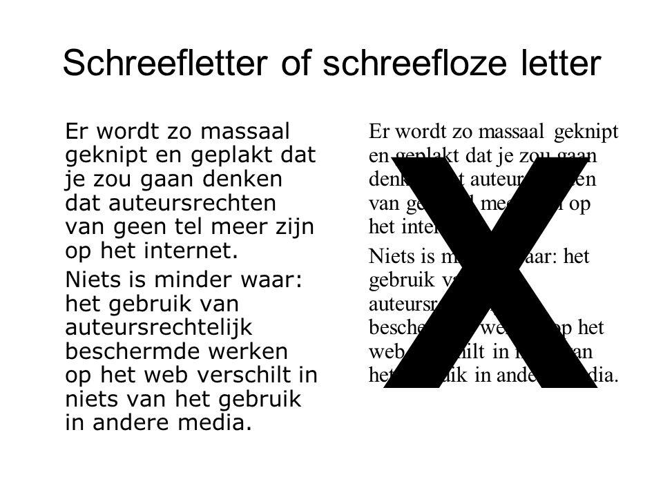 Schreefletter of schreefloze letter