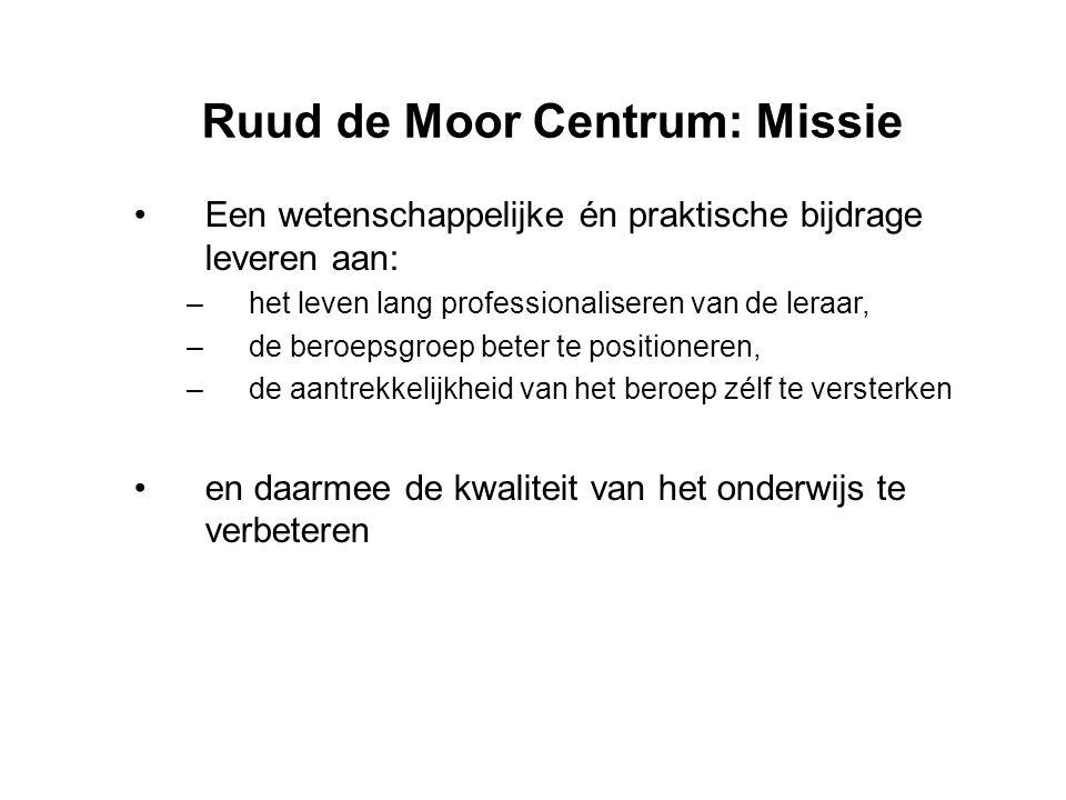 Ruud de Moor Centrum: Missie