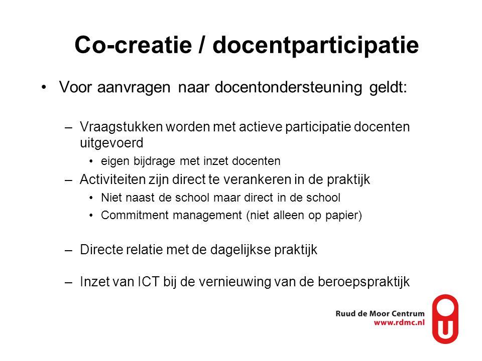 Co-creatie / docentparticipatie