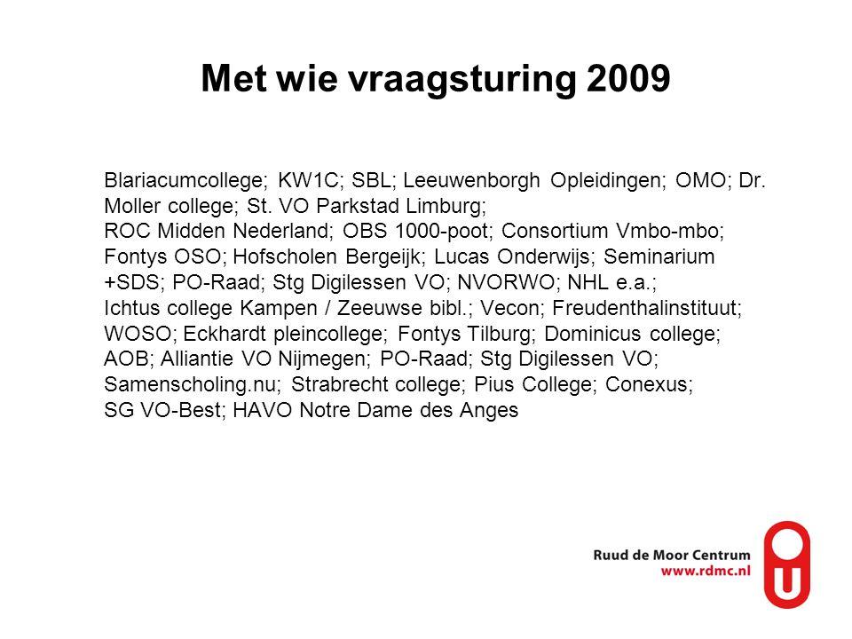 Met wie vraagsturing 2009