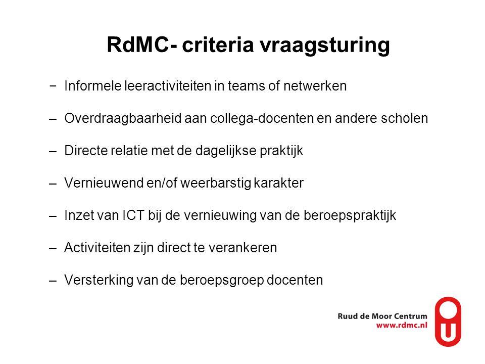 RdMC- criteria vraagsturing