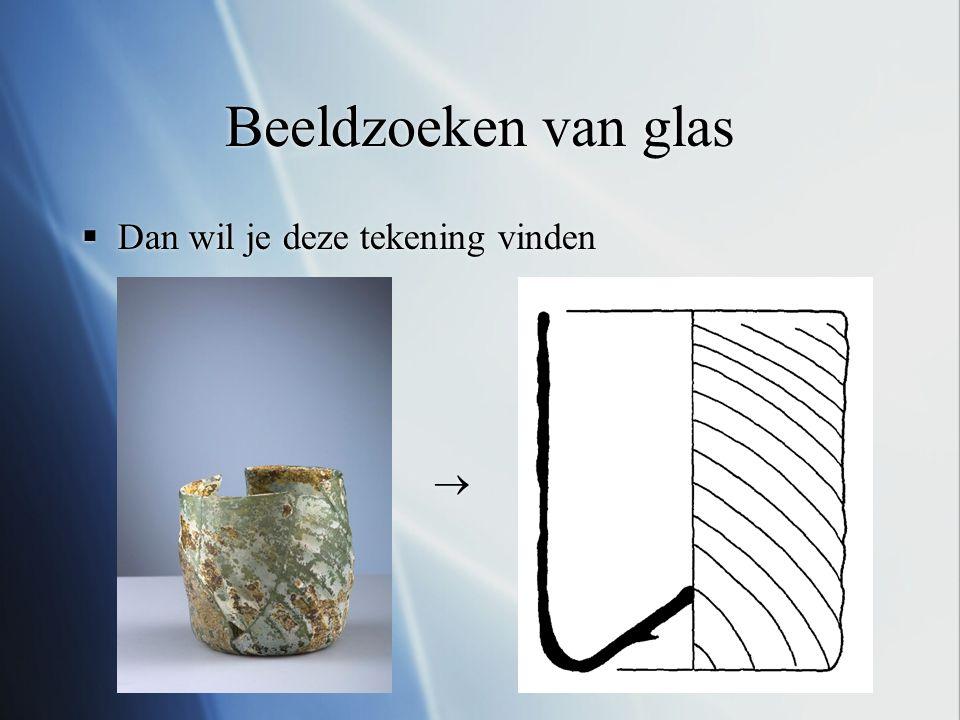 Beeldzoeken van glas Dan wil je deze tekening vinden 