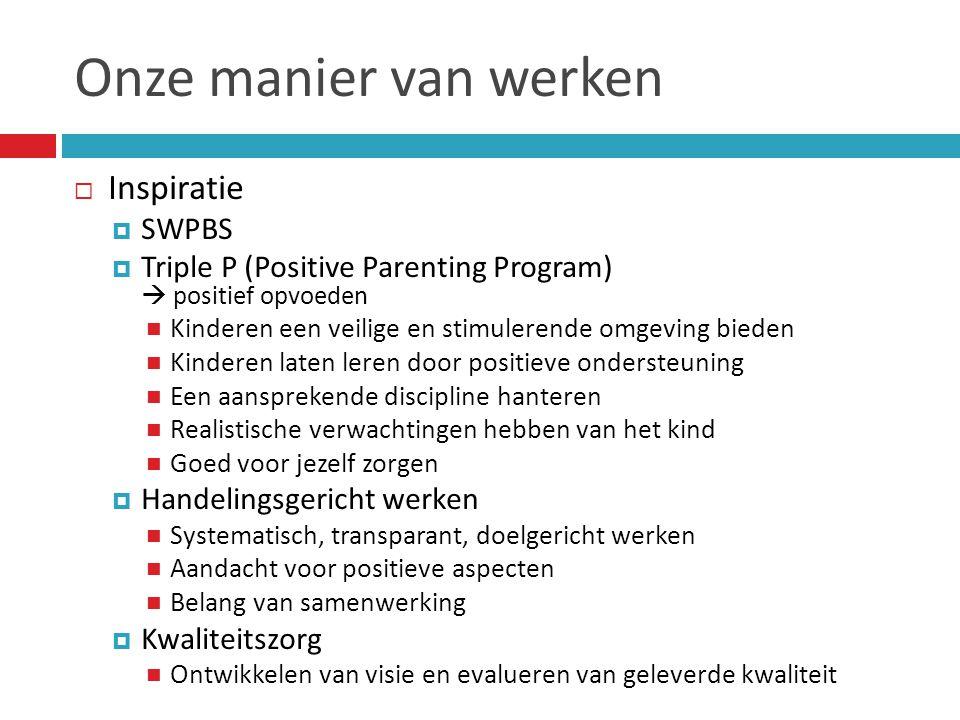 Onze manier van werken Inspiratie SWPBS
