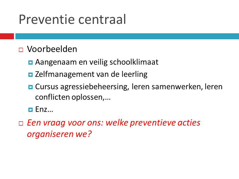 Preventie centraal Voorbeelden