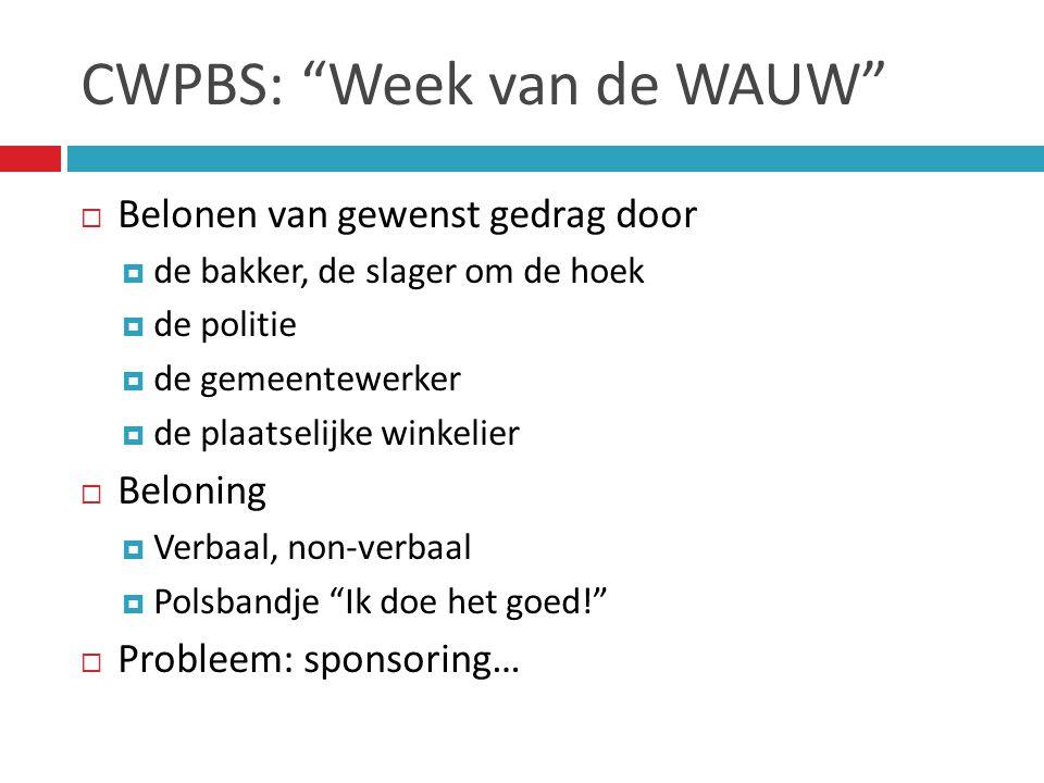CWPBS: Week van de WAUW