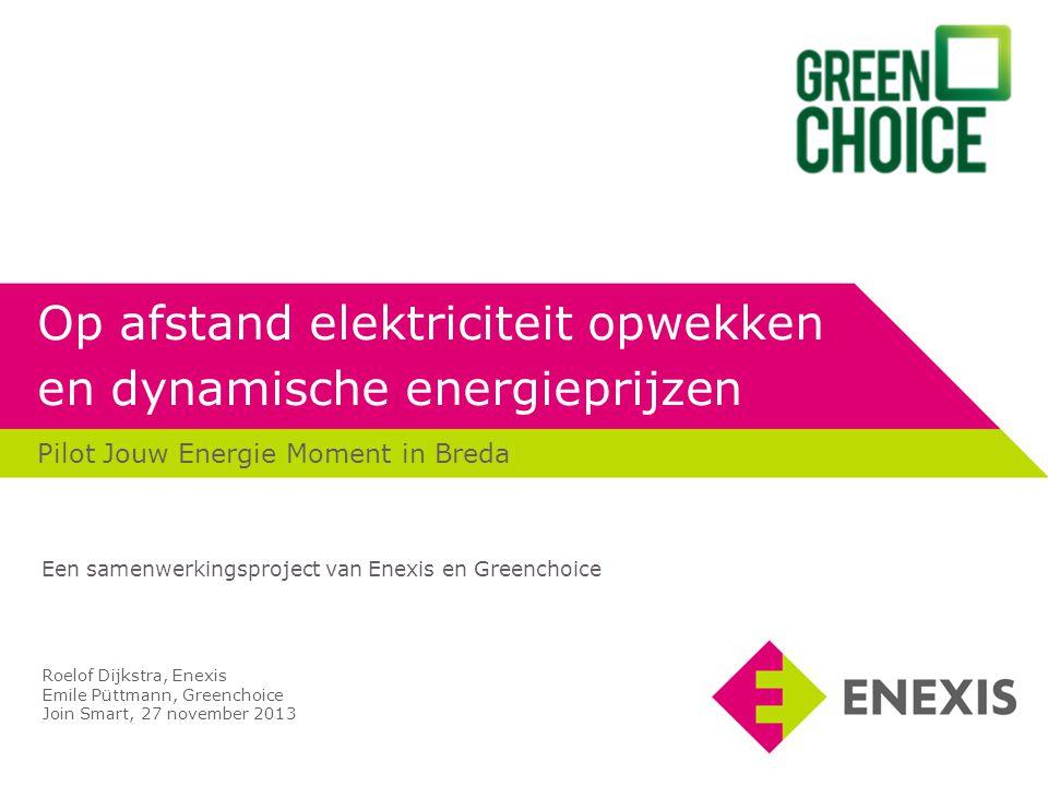 Op afstand elektriciteit opwekken en dynamische energieprijzen