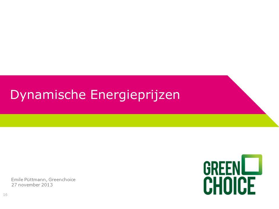 Dynamische Energieprijzen
