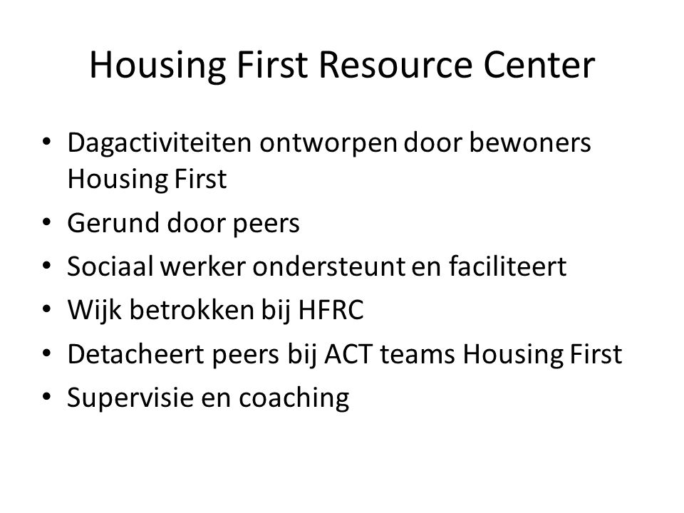 Housing First Resource Center