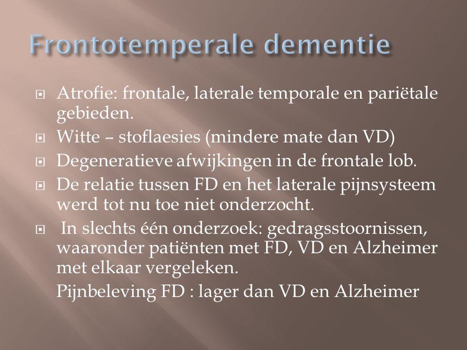 Frontotemperale dementie