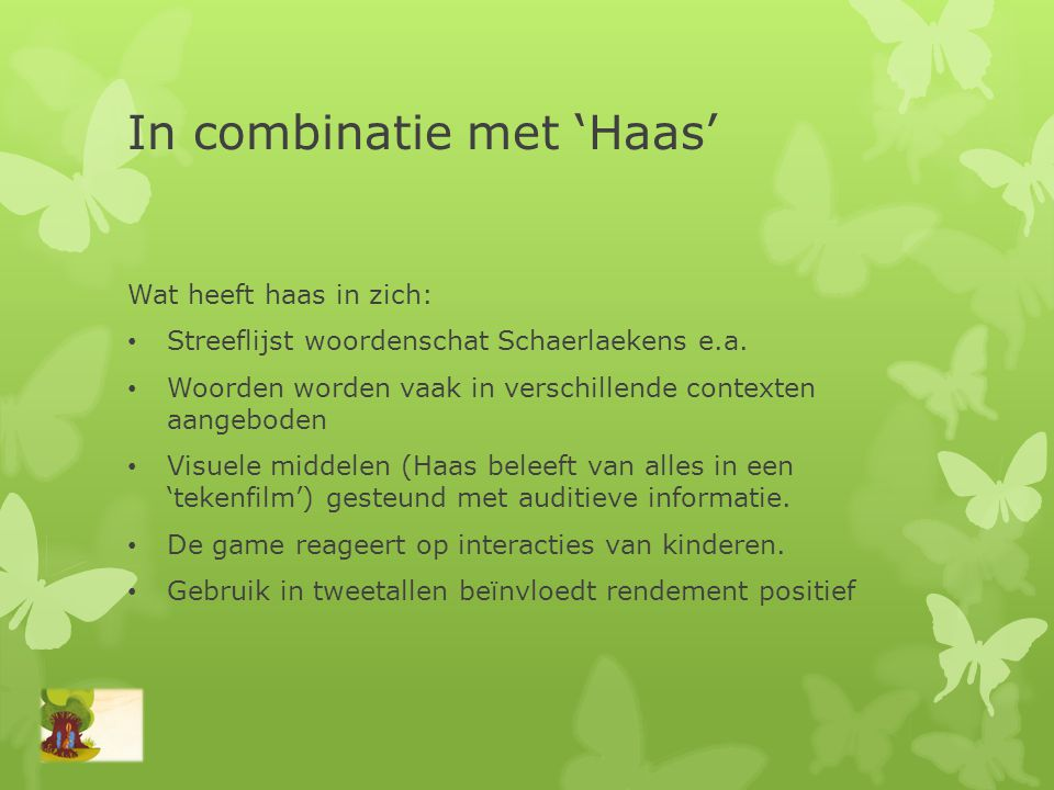 In combinatie met 'Haas'