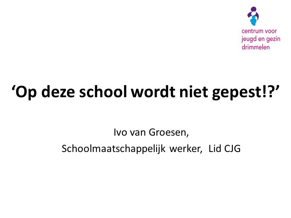 'Op deze school wordt niet gepest! '