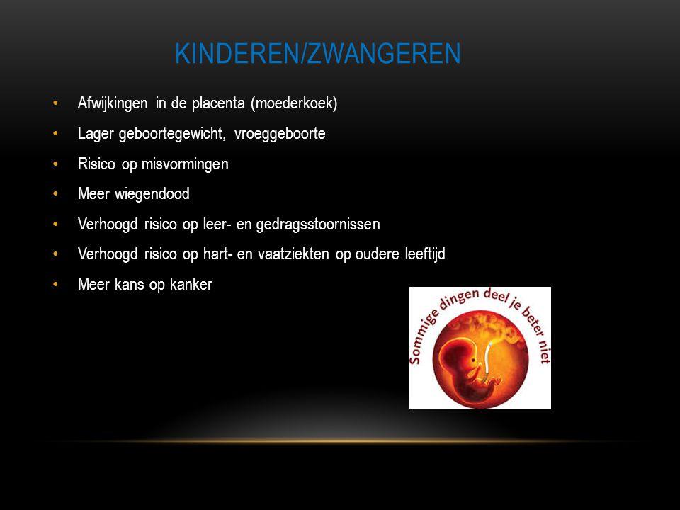 Kinderen/zwangeren Afwijkingen in de placenta (moederkoek)