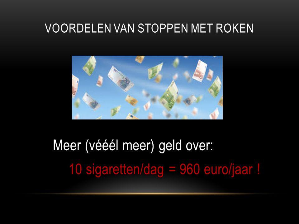 Voordelen van stoppen met roken