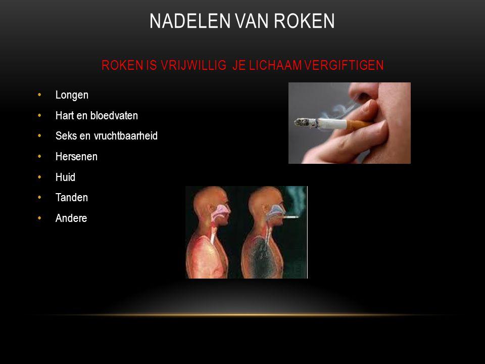 Nadelen van roken Roken is vrijwillig je lichaam vergiftigen