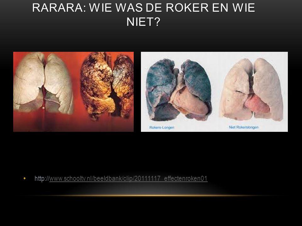 Rarara: wie was de roker en wie niet