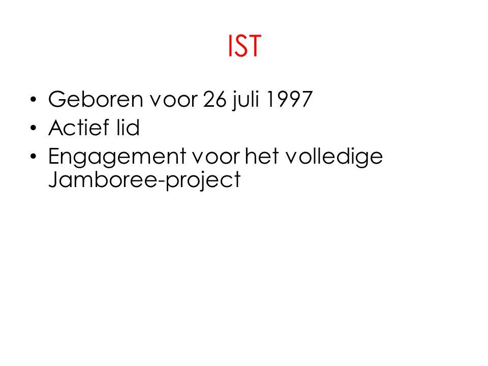 IST Geboren voor 26 juli 1997 Actief lid