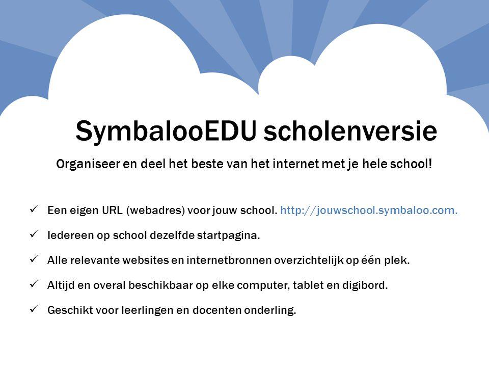 SymbalooEDU scholenversie
