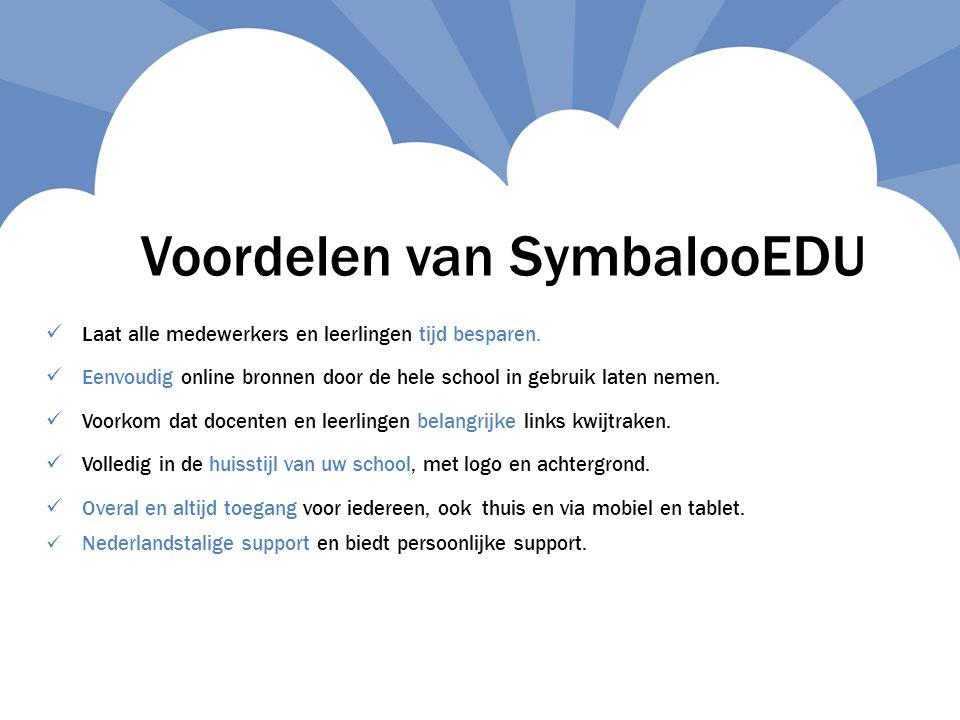 Voordelen van SymbalooEDU