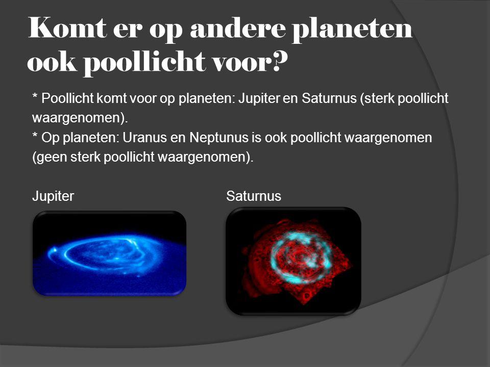Komt er op andere planeten ook poollicht voor