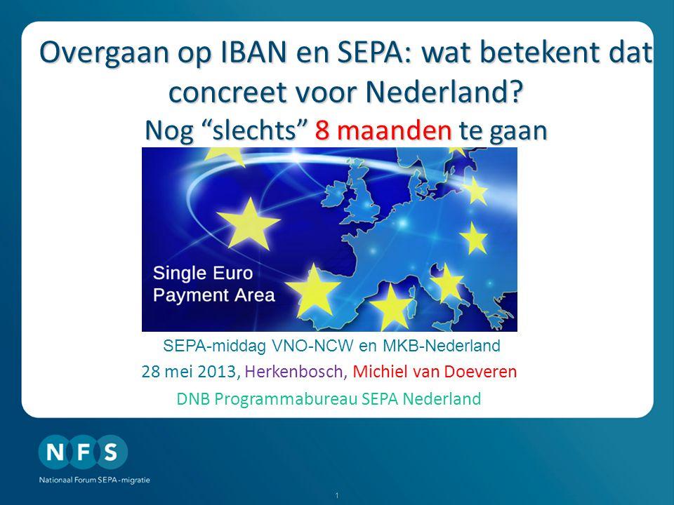 Overgaan op IBAN en SEPA: wat betekent dat concreet voor Nederland