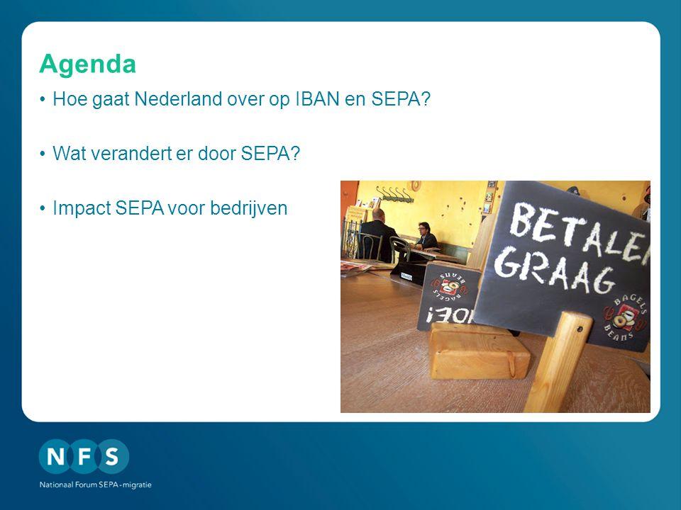 Agenda Hoe gaat Nederland over op IBAN en SEPA