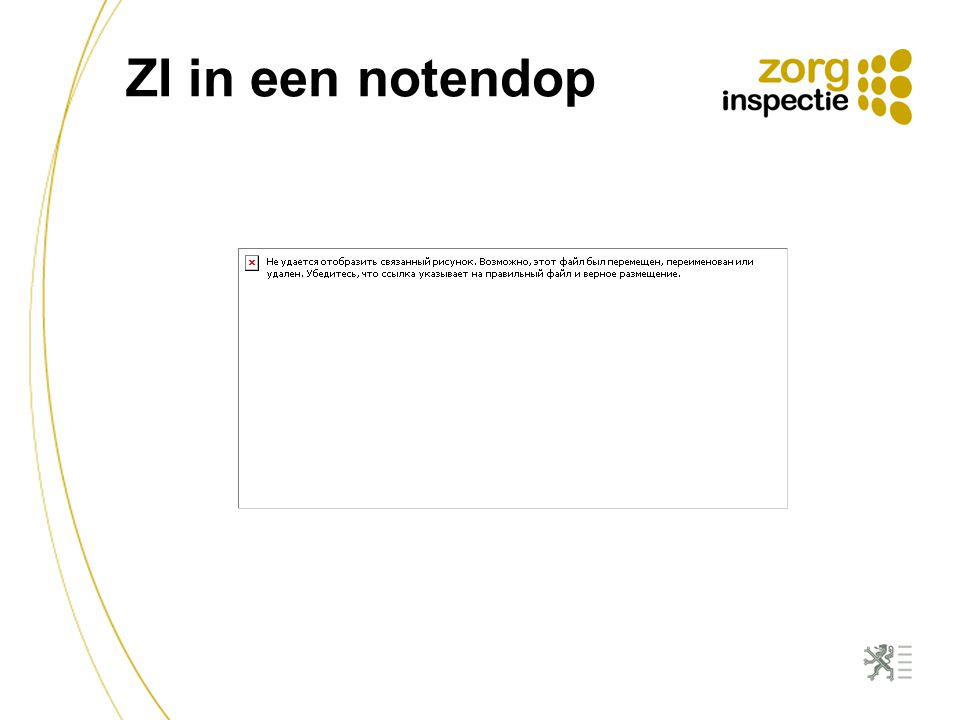 ZI in een notendop