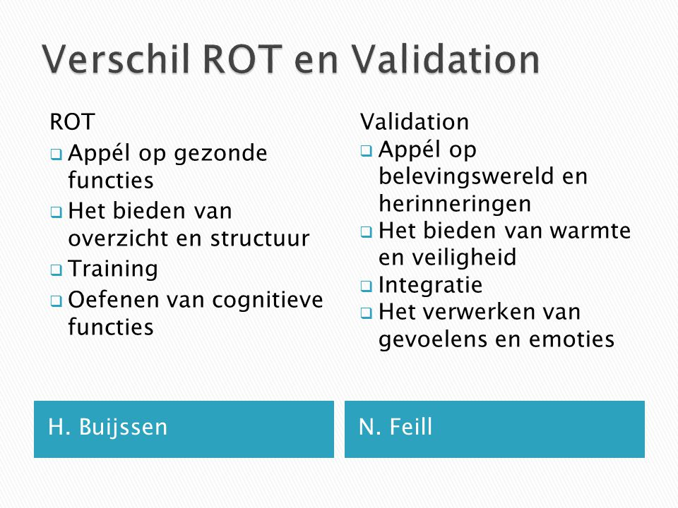Verschil ROT en Validation