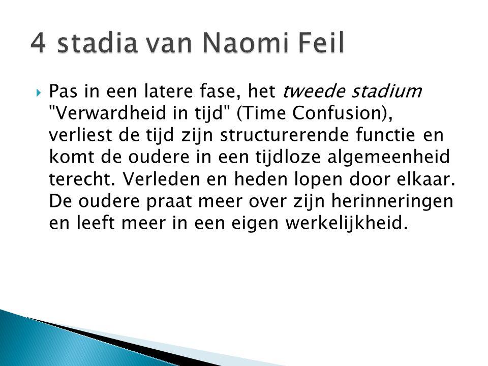 4 stadia van Naomi Feil