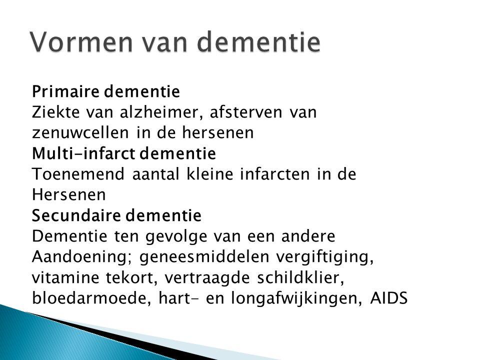 Vormen van dementie Primaire dementie