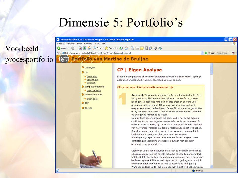 Dimensie 5: Portfolio's