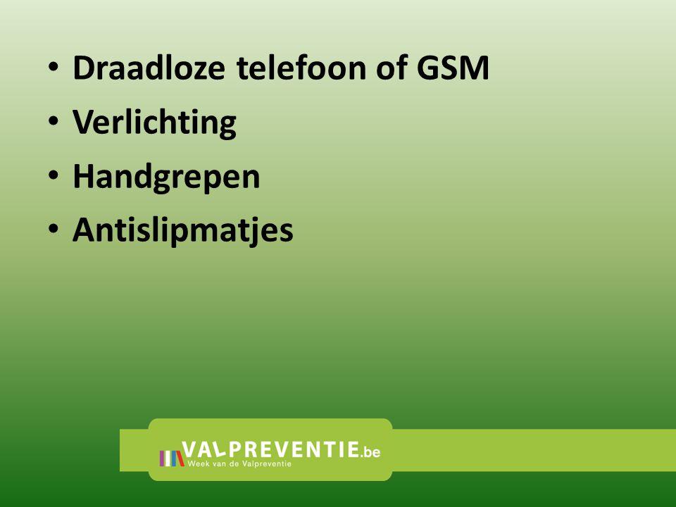 Draadloze telefoon of GSM