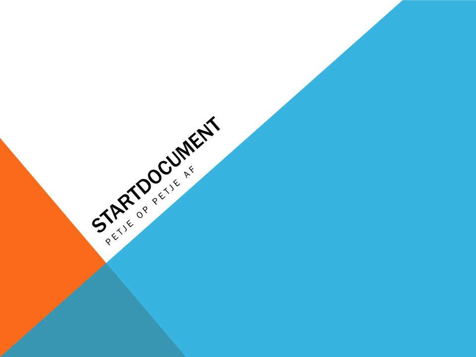 StartDOCUMENT Petje op petje af Muziek van holland spot of fimpje