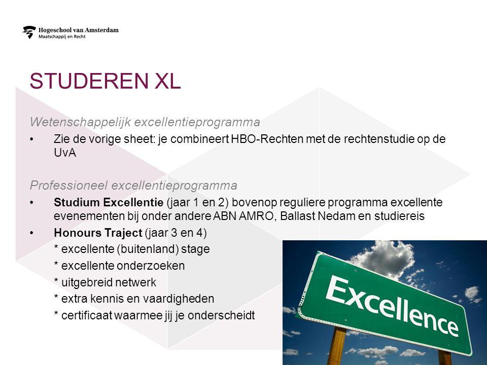 Studeren XL Wetenschappelijk excellentieprogramma