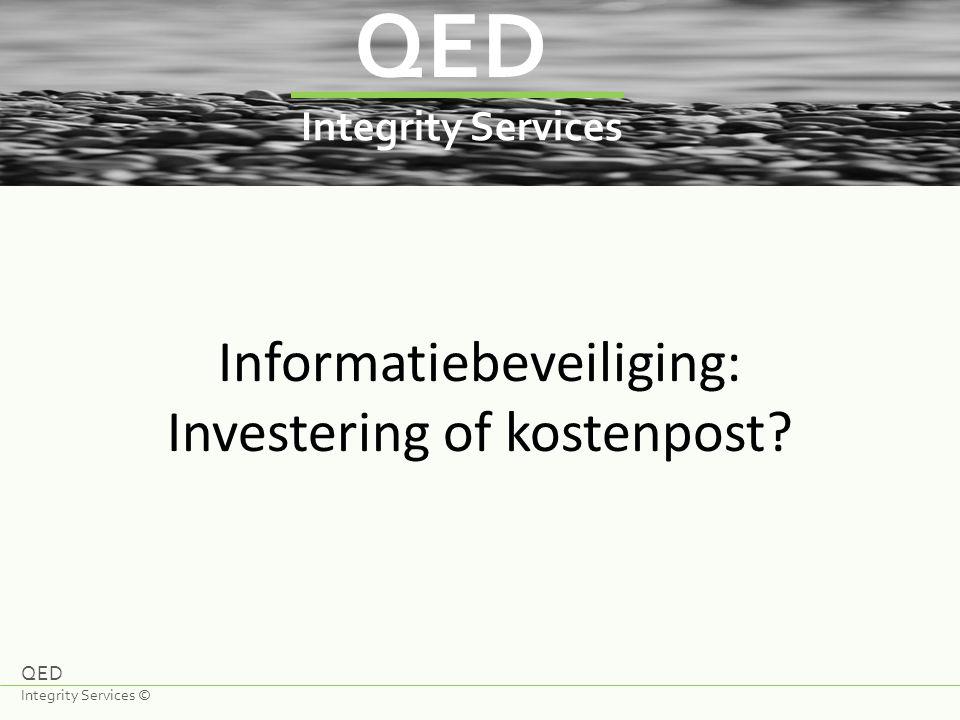 Informatiebeveiliging: Investering of kostenpost