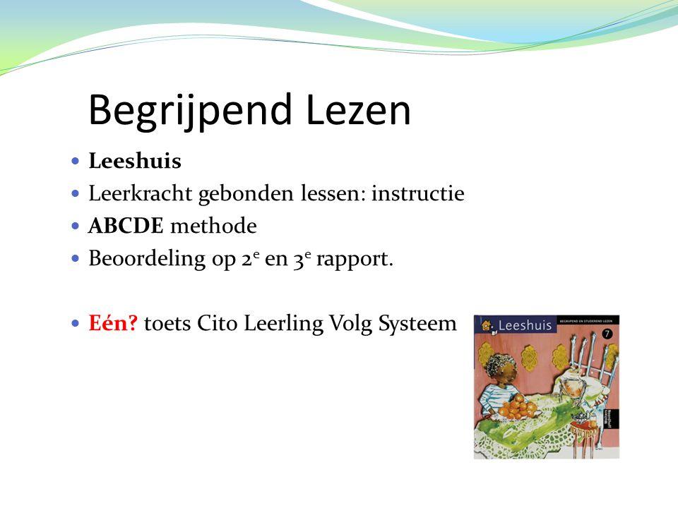 Begrijpend Lezen Leeshuis Leerkracht gebonden lessen: instructie