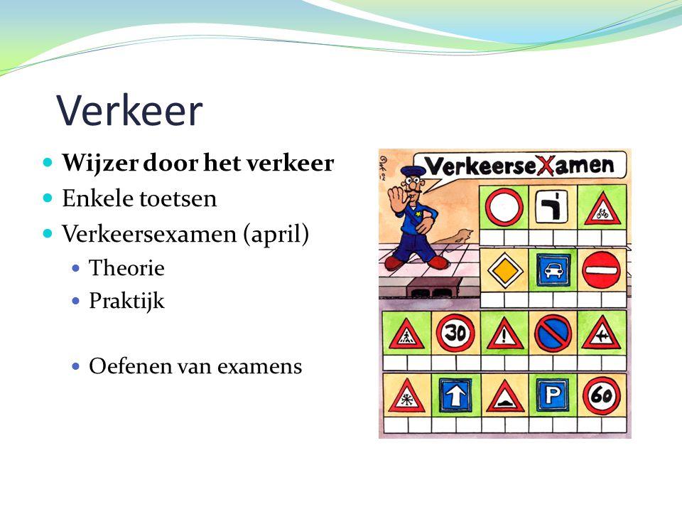 Verkeer Wijzer door het verkeer Enkele toetsen Verkeersexamen (april)