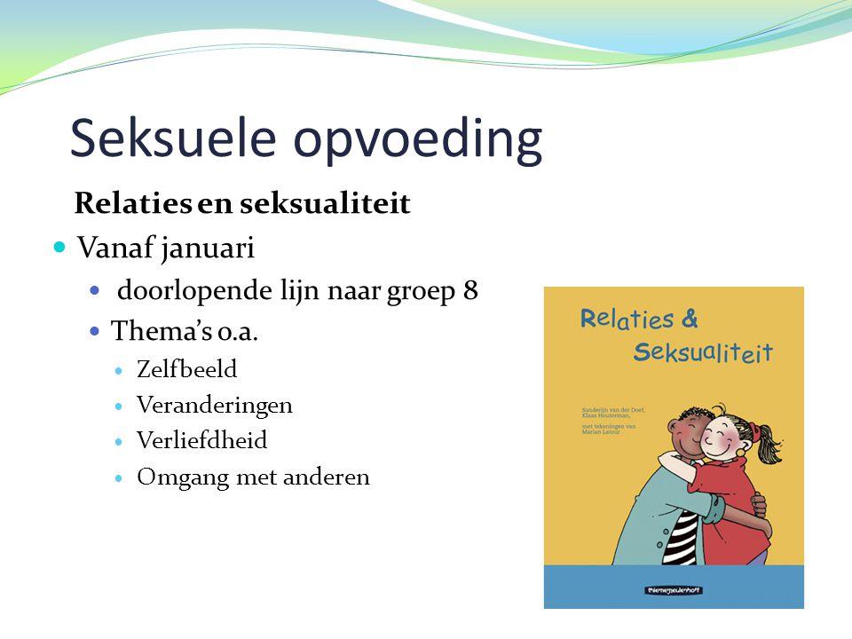 Seksuele opvoeding Relaties en seksualiteit Vanaf januari